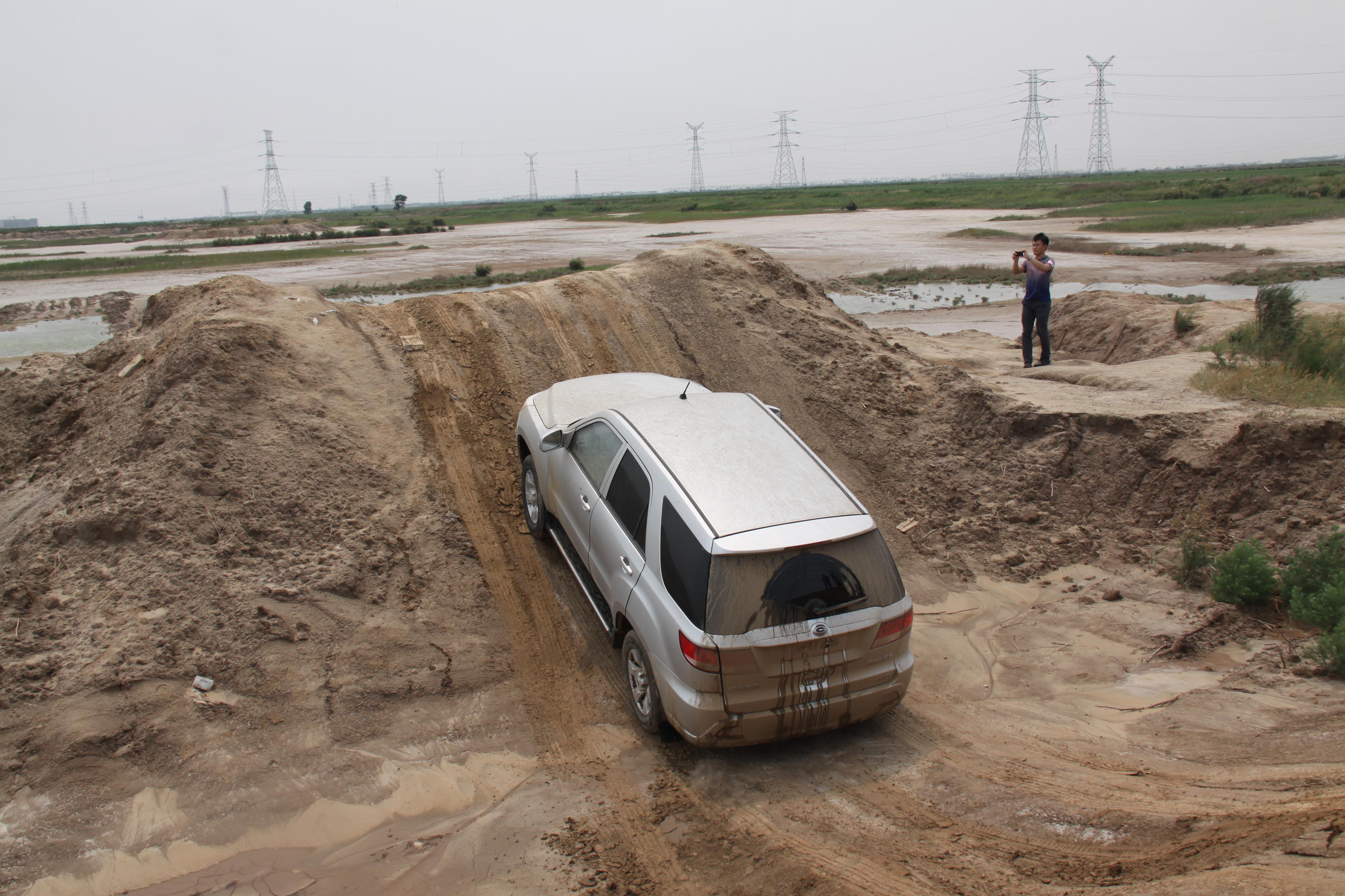 黄河入海口 广汽奥轩SUV的60度跨越
